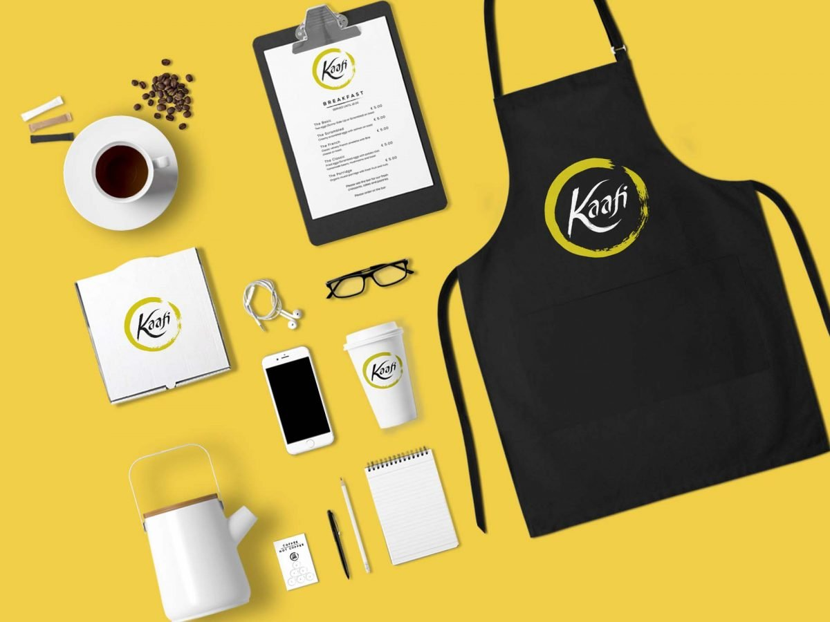 Creative design agency Crate47 create coffee shop branding for Kaafi