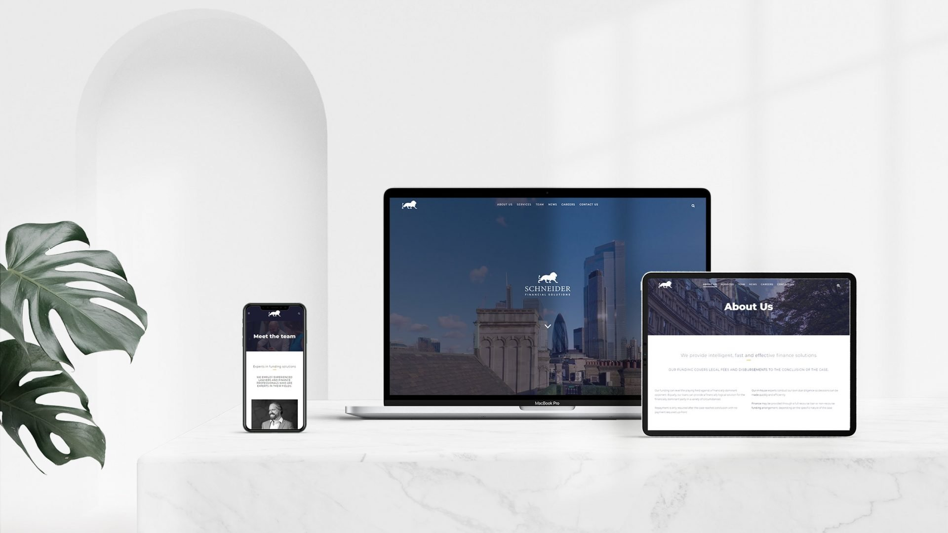 Crate47 Schneider Financial Services rebranding and website design - Web Devices