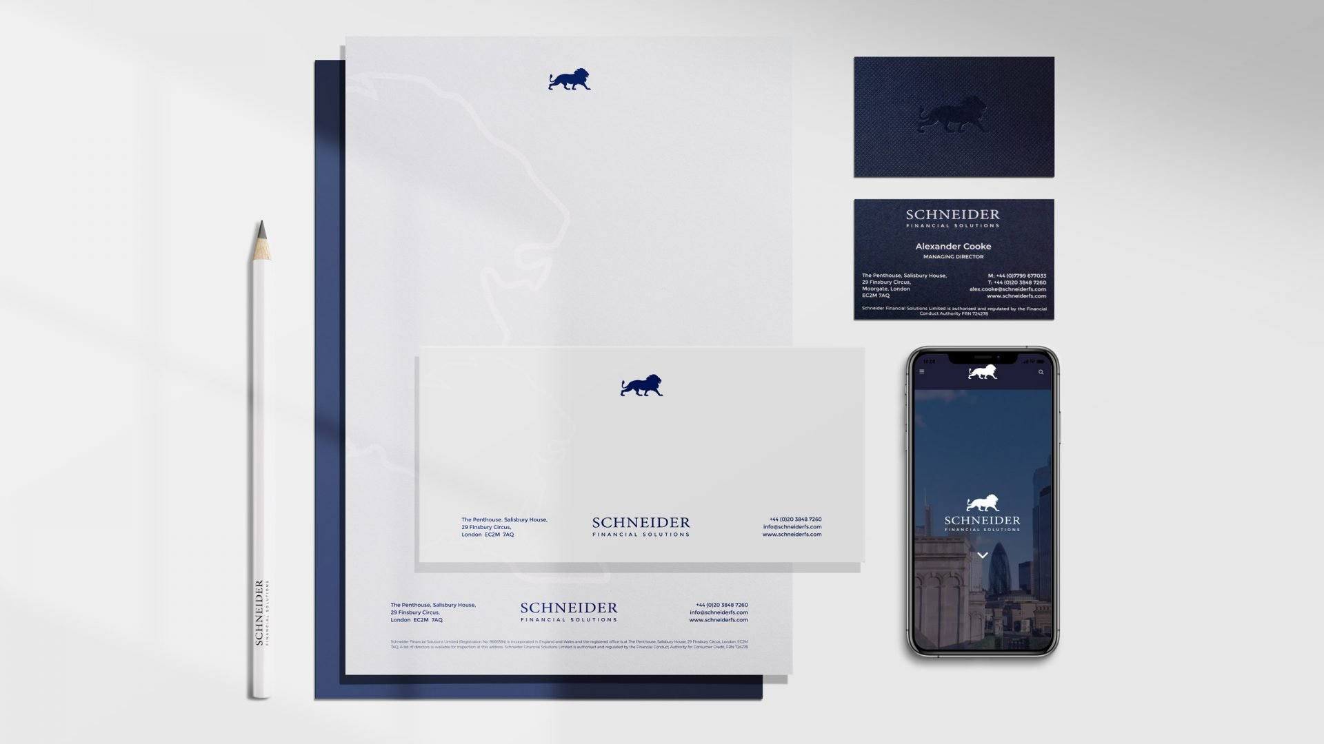 Crate47 Schneider Financial Services rebranding and website design - Financial Brand design
