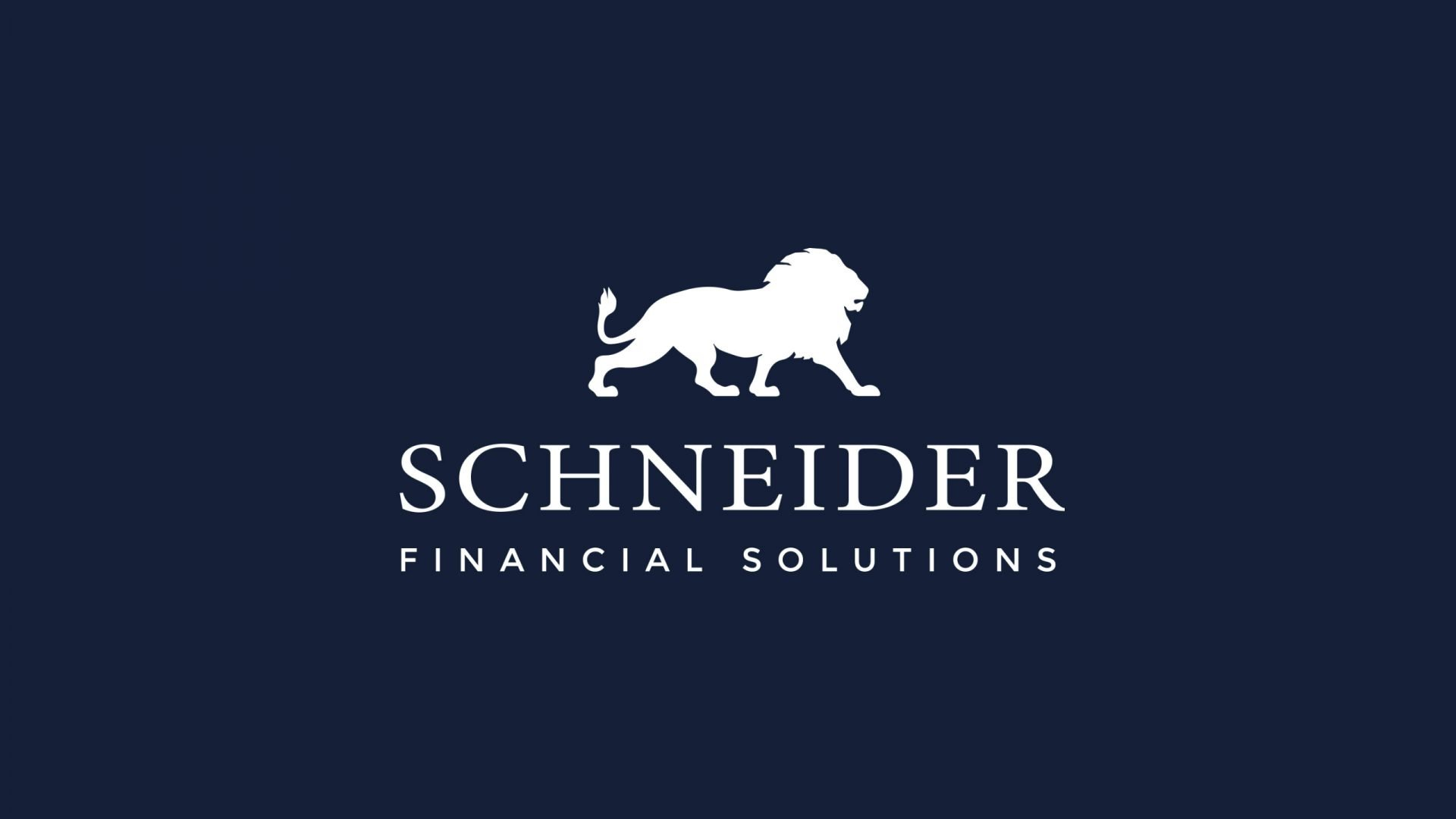 Crate47 Schneider Financial Services rebranding and website design - Brand design Full logo