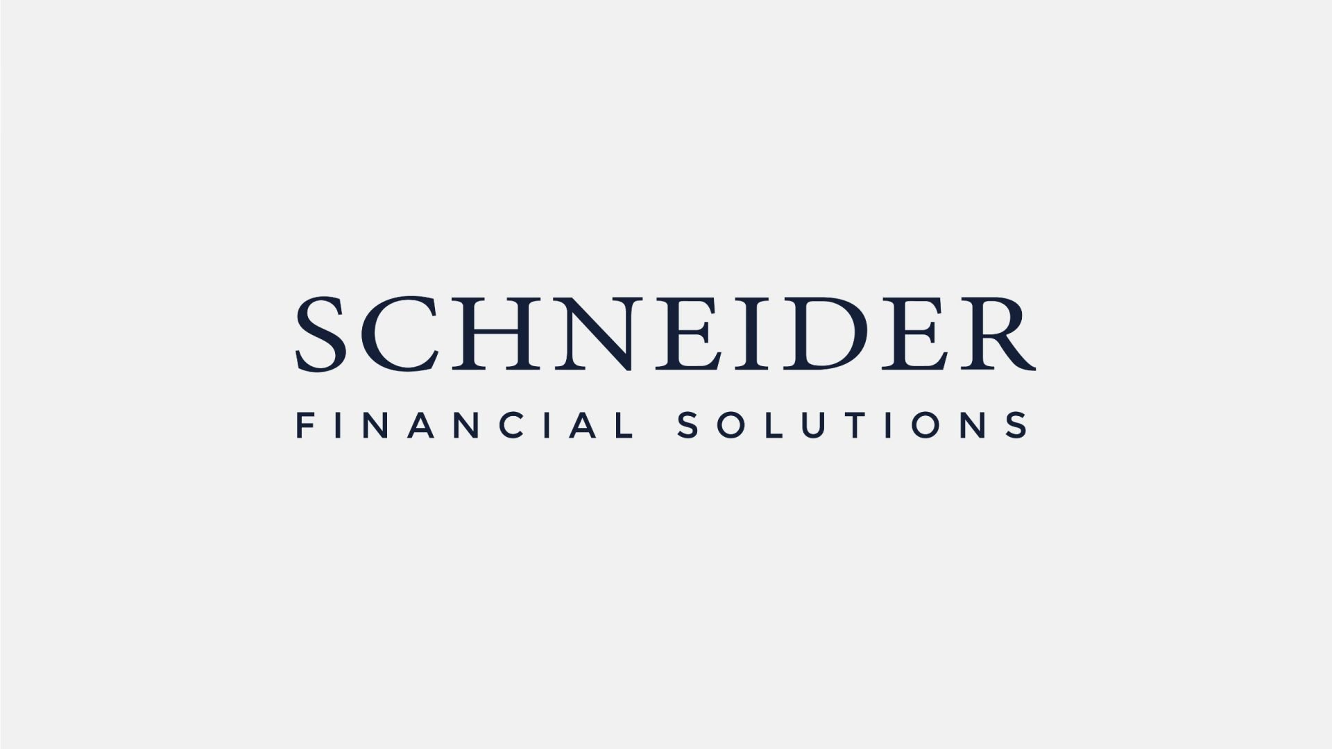 Crate47 Schneider Financial Services rebranding and website design - Brand design Written logo