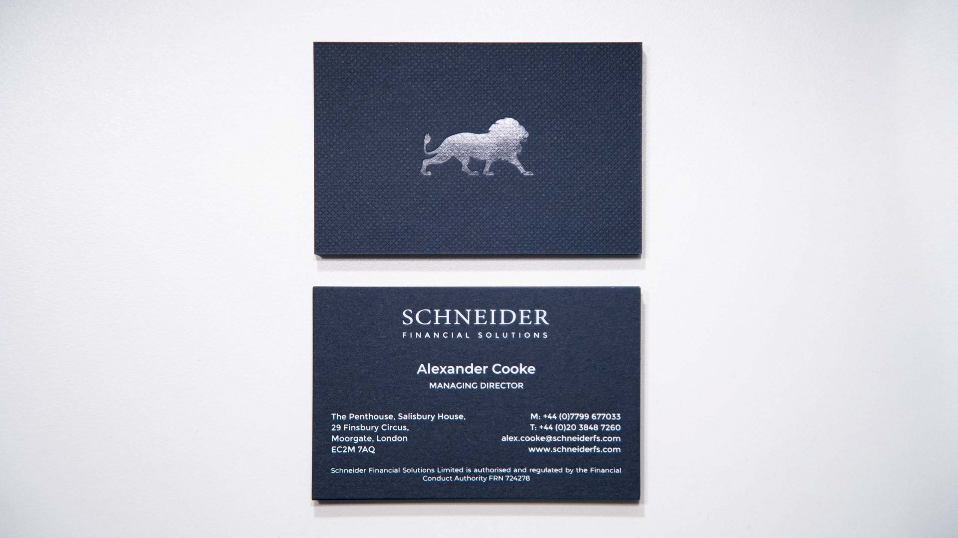 Crate47 Schneider Financial Services rebranding and website design - Business Card design 2